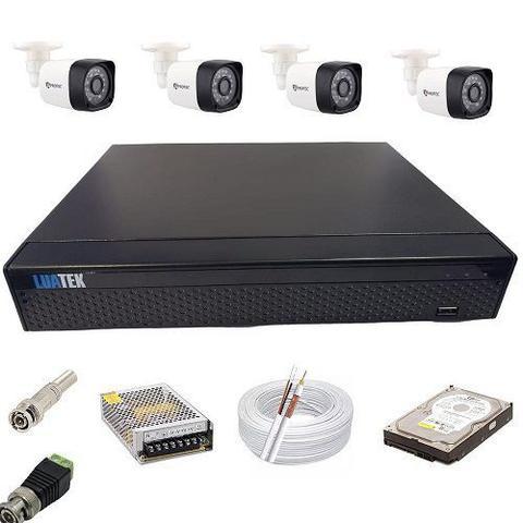 Imagem de Kit Monitoramento 4 Câmeras Digitais AHD Infravermelho DVR 4 Canais