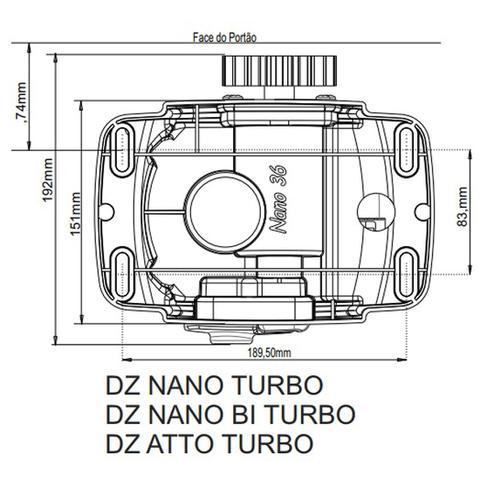 Imagem de Kit Motor Automatizador Portão Deslizante Atto Turbo Rossi