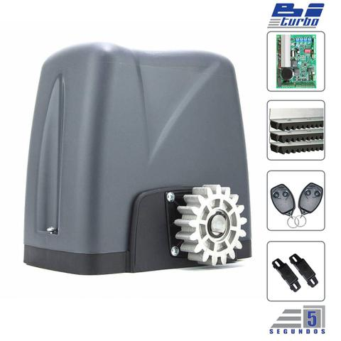 Imagem de Kit Motor Automatizador Portão Deslizante Nano Bi-Turbo Rossi