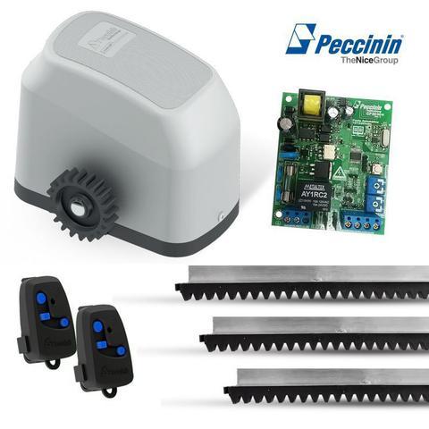 Imagem de Kit Motor Automatizador Portão Eletrônico Deslizante Gatter 3000 110/220V - Peccinin 3,90 metros.