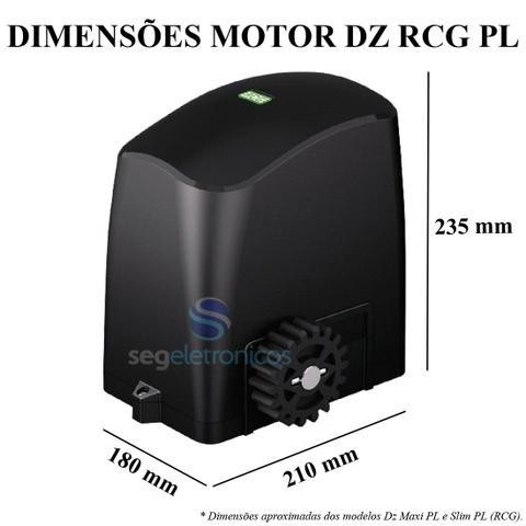 Imagem de Kit Motor Para Portão Eletrônico Deslizante Rcg Slider-PL Slim 1/5 hp