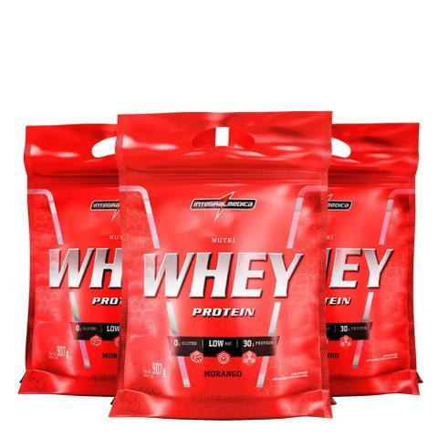 Imagem de Kit Nutri Whey Protein 3x 907 g Refi - IntegralMédica