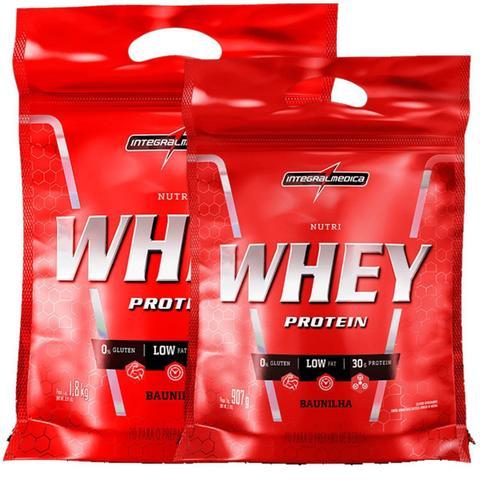 Imagem de Kit Nutri Whey Protein - Baunilha 1800g Refil + Nutri Whey 907g Refil - Integralmédica