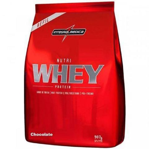 Imagem de Kit Nutri Whey Protein - Morango 1800g Refil + Nutri Whey Chocolate  907g Refil - Integralmédica
