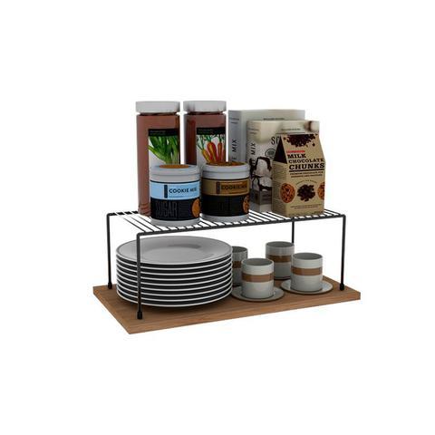 Imagem de Kit Organizador Armário Cozinha Xícara Panela Prato Aço 4 Un