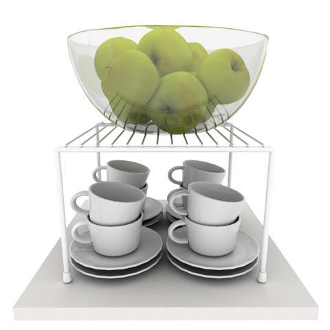 Imagem de Kit Organizador Armário de Cozinha Aramado Luxo 100% Aço