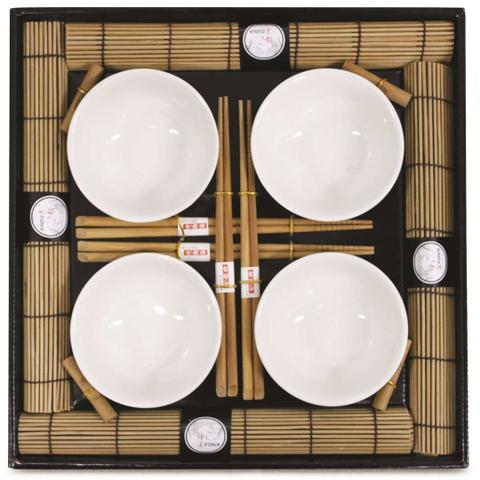 Imagem de Kit Oriental Sushi 16 peças Hashi Bowl Esteira Kyoto Yoi