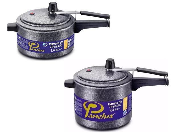 Imagem de Kit Panela de Pressão 3 e 4,5 litros Craqueada Panelux