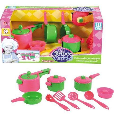 Imagem de Kit Paneleiro Infantil Brinquedo Panelas Jogo Cozinha Nig