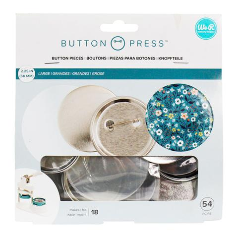 Imagem de Kit para Botons WeR Memory Keepers Button Press Pack Large 58 mm 54 Peças  661098