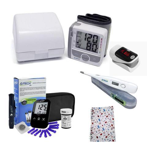 Imagem de Kit Para Idosos Completo com Glicose Aparelho de Pressão Aparelho Para Medir Saturação do Oxigênio
