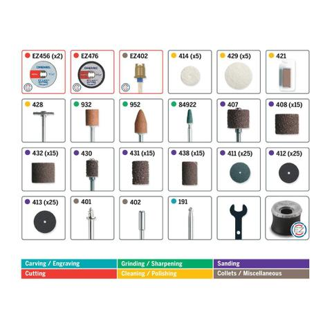 Imagem de Kit para Mini Retifica DREMEL 160 Peças 710-RW2 DREMEL