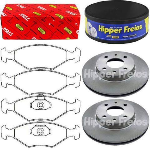 Imagem de Kit pastilha freio + par disco freio dianteiro - siena 2000 á 2009 - kit00829