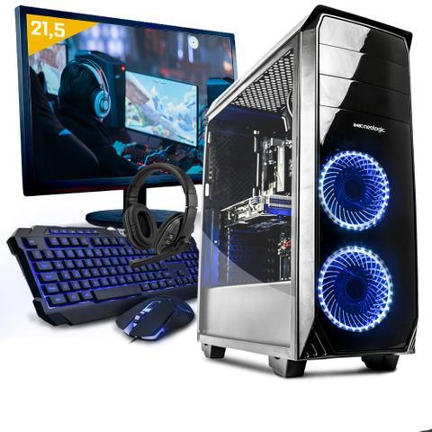 Imagem de Kit pc gamer neologic nli80934 ryzen 3 2200g 8gb (geforce gtx 1050) 1tb + monitor 21,5
