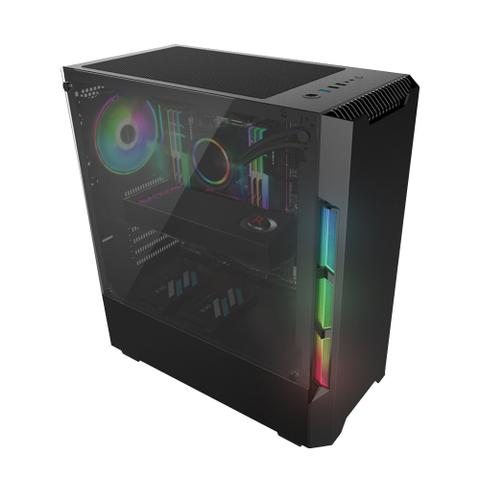 Imagem de Kit PC Gamer Neologic NLI81530 Ryzen 3 2200G 8GB (RX 570 4GB) 1TB + Monitor 21,5