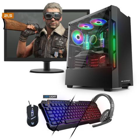 Imagem de Kit PC Gamer Neologic NLI81531 Ryzen 3 2200G 8GB (RX 570 4GB) SSD 240GB + Monitor 21,5