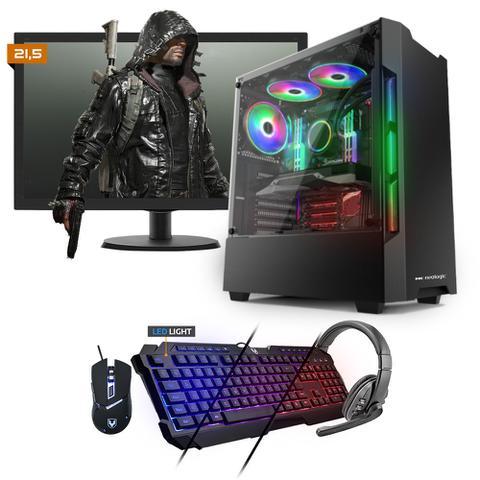 Desktop Neologic Gamer Nli81532 Amd Ryzen 3 2200g 3.50ghz 8gb 480gb Amd Radeon Rx570 Windows 10 Pro Com Monitor