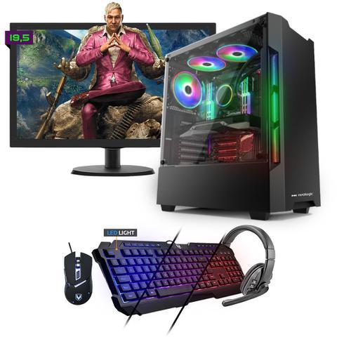 Desktop Neologic Gamer Nli81542 Amd Ryzen 3 2200g 3.50ghz 8gb 1tb Amd Radeon Rx570 Windows 10 Pro Com Monitor