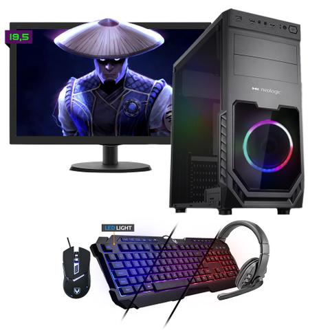 Desktop Neologic Gamer Nli81545 Amd Ryzen 3 2200g 3.50ghz 8gb 1tb Amd Radeon Rx570 Windows 10 Pro Com Monitor