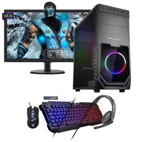 Desktop Neologic Gamer Nli81546 Amd Ryzen 3 2200g 3.50ghz 8gb 240gb Amd Radeon Rx570 Windows 10 Pro Com Monitor