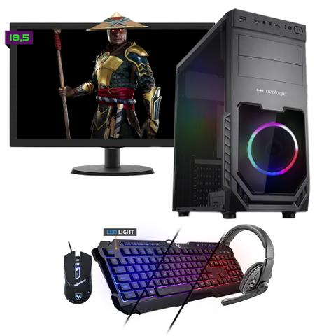 Desktop Neologic Gamer Nli81547 Amd Ryzen 3 2200g 3.50ghz 8gb 480gb Amd Radeon Rx570 Windows 10 Pro Com Monitor