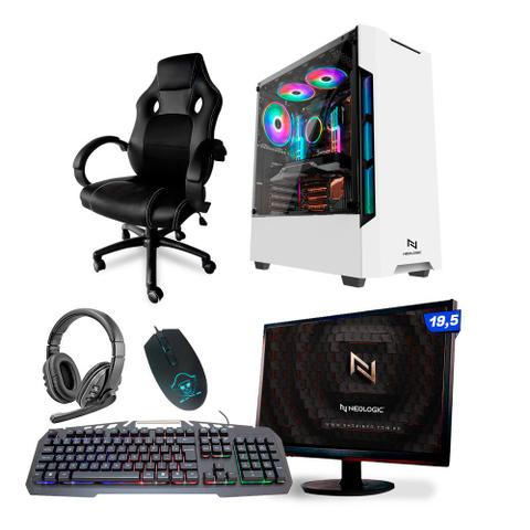 Imagem de KIT - Pc Gamer Neologic NLI82111 Ryzen 3 2200G 8GB (Radeon Vega 8 Integrado) SSD 240GB + Cadeira Gamer