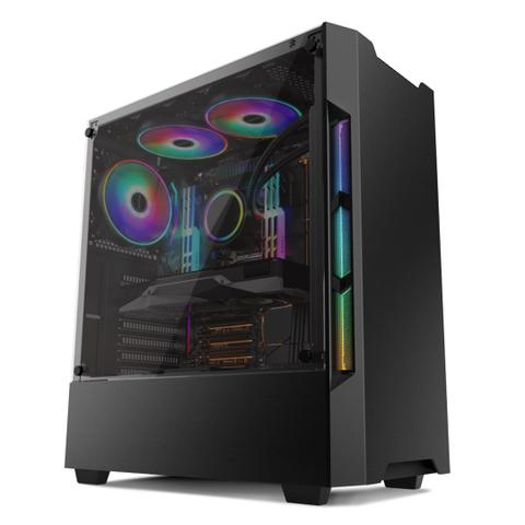 Imagem de Kit PC Gamer Neologic Start NLI81425 Ryzen 3 2200G 8GB ( Radeon Vega 8 Integrado)1TB + Monitor 19,5