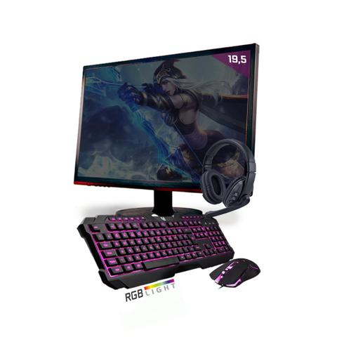 Imagem de Kit PC Gamer Neologic Start NLI81427 Ryzen 3 2200G 8GB ( Radeon Vega 8 Integrado) SSD 480GB + Monitor 19,5