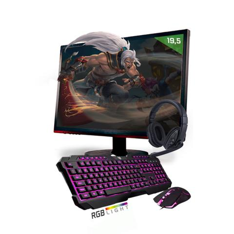Imagem de Kit PC Gamer Neologic Start NLI81434 Ryzen 5 2400G 8GB (Radeon RX Vega 11 Integrado) 1TB + Monitor 19,5
