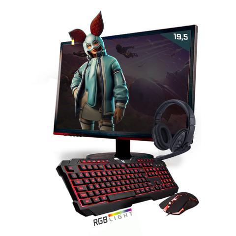 Imagem de Kit PC Gamer Neologic Start NLI81436 Ryzen 5 2400G 8GB (Radeon RX Vega 11 Integrado) SSD 480GB + Monitor 19,5