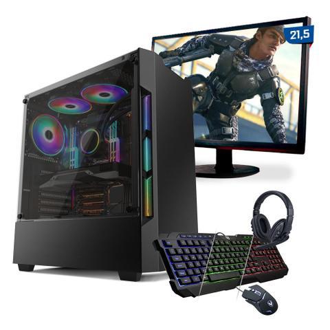 Imagem de Kit PC Gamer Neologic Start NLI81628 Ryzen 5 3400G 8GB (Radeon Vega 11 Integrado) 1TB + Mon 21,5
