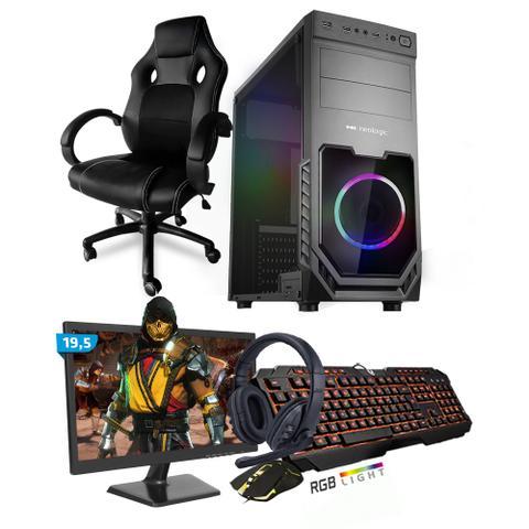 Imagem de Kit PC Gamer Smart SMT81471 Intel i5 8GB (GeForce GTX 1650 4GB) SSD 240GB + Monitor 19,5 + Cadeira Gamer