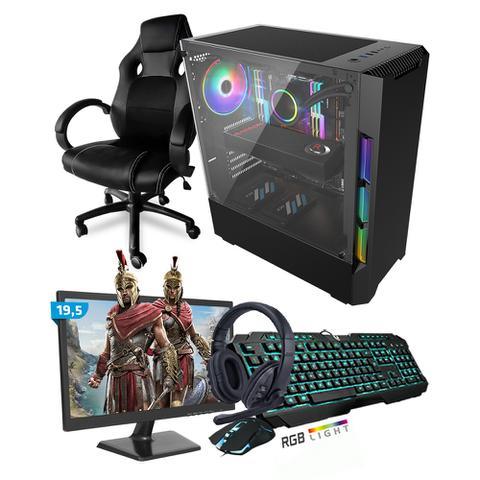 Imagem de Kit PC Gamer Smart SMT81480 Intel i5 8GB (RX 570 4GB) SSD 240GB + Monitor 19,5 + Cadeira Gamer