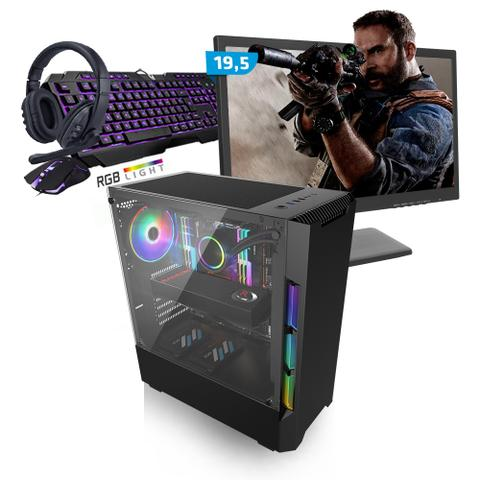 Imagem de Kit PC Gamer Smart SMT81486 Intel i5 8GB (RX 580 8GB) SSD 240GB + Monitor 19,5