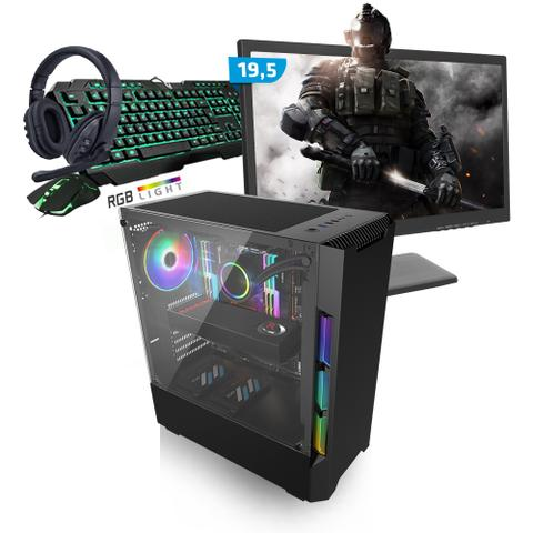 Imagem de Kit PC Gamer Smart SMT81487 Intel i5 8GB (RX 580 8GB) SSD 480GB + Monitor 19,5