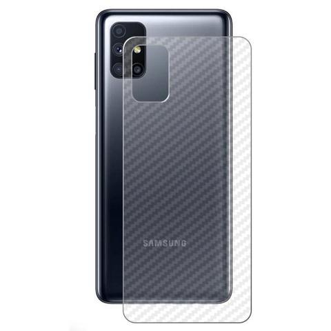Imagem de Kit Película de Vidro Frontal + Película Traseira Fibra Carbono Samsung Galaxy M51