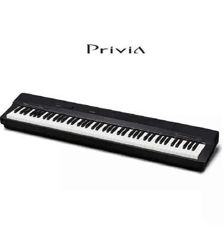 Imagem de Kit Piano CASIO Privia PX-160BK Preto 88 Teclas + Estante CS-67bk + Pedal + Fonte + Sup.Partitura