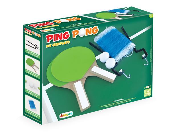 Imagem de Kit Ping-pong Tênis De Mesa Completo Em Madeira Junges
