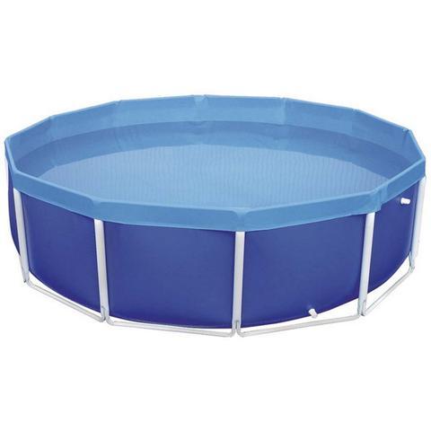 Imagem de Kit Piscina 4500 Litros em PVC com Válvula de Deságue Azul Mor 1007 + Capa Protetora + Forro Mor