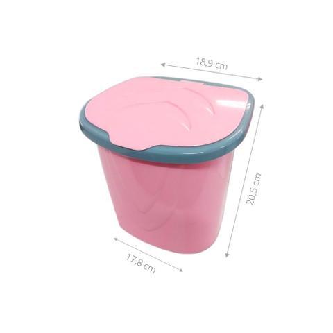 Imagem de Kit Porta Detergente Lixeira 3 Litros Rodinho Pia Plástico Indispensável Cozinha Limpeza