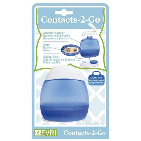 Imagem de Kit Porta Lentes de Contato Evriholder em Plástico - Azul / Branco