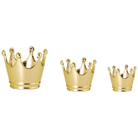 Imagem de Kit Pote Coroa Dourada - 3 peças