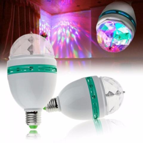 Imagem de Kit Projetor Canhão Laser Projetor Holográfico Efeitos Strobo Luz + Lampada Giratória Led Para Festa