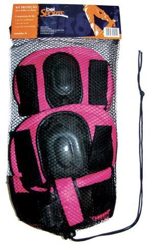 Imagem de Kit Proteção Infantil Para Rollers E Skates - Rosa - G