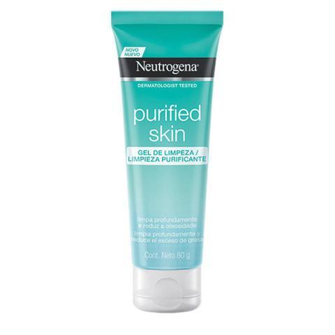 Imagem de Kit Purified Skin: Gel de Limpeza 80g + Esfoliante Facial 100g + Água Micelar 7 em 1 200ml + Máscara de Hidrogel Neutrogena Purifying Boost 30ml