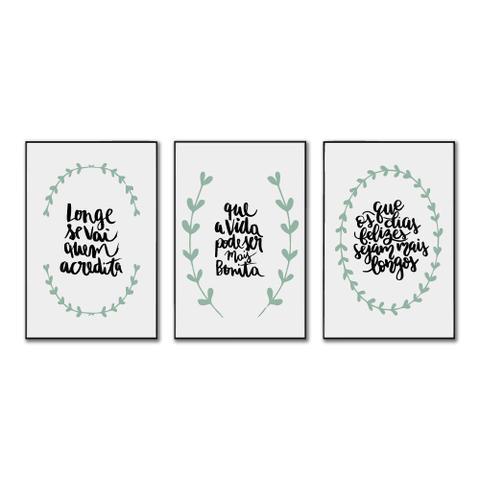 Imagem de Kit Quadros Decorativos Frases Motivacionais