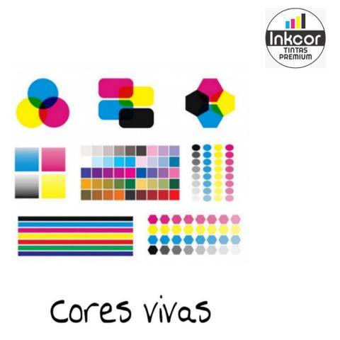 Imagem de Kit Recarga Cartucho 300ml no Total (60ml cada cor) Compatível com HP 662 122 901 74 60 664 61 75 21 27 56 22 28 74
