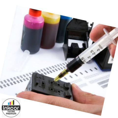 Imagem de Kit Recarga Cartuchos 450ml no Total Compatível com HP 664 662 122 901 74 60 21 56 74 Tinta Corante