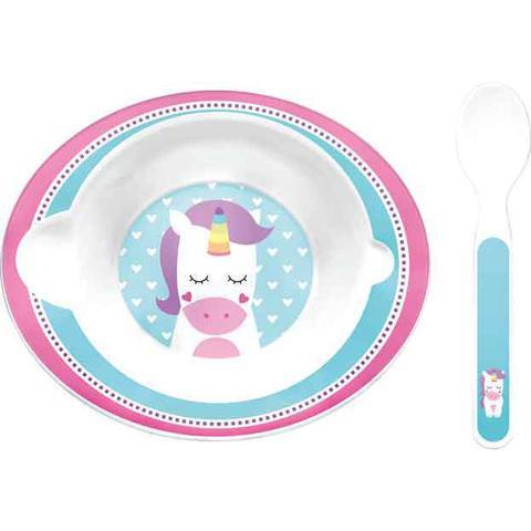 Imagem de Kit refeição Animal Fun - Bowl Com Colher, Babador e Garrafa