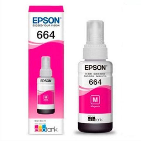 Imagem de Kit Refil Tinta Original Epson 664 P/ Impressora Epson L110 L200 210 L350 L355 L375 L395 L495